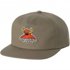 RVCA x Toy Machine Snapback Hat - Khaki