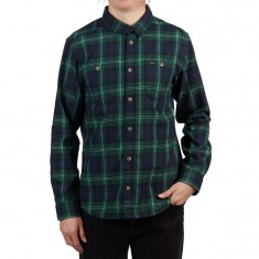 RVCA Bone Flannel Longsleeve Shirt - Federal Blue