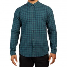 RVCA Hayes Flannel Longsleeve Shirt - Federal Blue