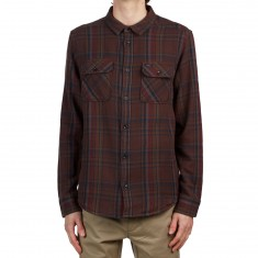RVCA Camino Flannel Longsleeve Shirt - Dark Chocolate