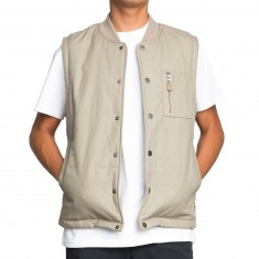 RVCA x Toy Machine Vest Jacket - Dark Khaki