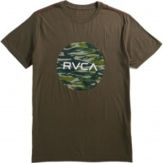 RVCA Water Camo Motors T-Shirt - Chocolate