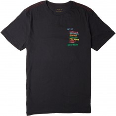 RVCA Get Up T-Shirt - Black