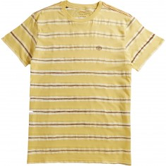 RVCA Warped Stripe T-Shirt - Bright Lemon