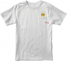 RVCA x Toy Machine Pocket T-Shirt - White