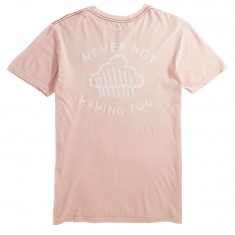 RVCA Having Fun T-Shirt - Washed Pink