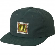 RVCA Boxed In Strapback Hat - Deep Moss