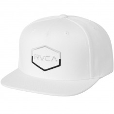 RVCA Commonwealth III Snapback Hat - White
