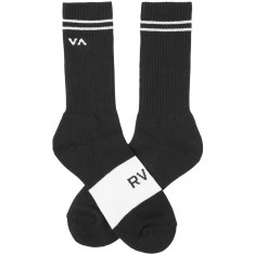 RVCA Basic Block Socks - Black