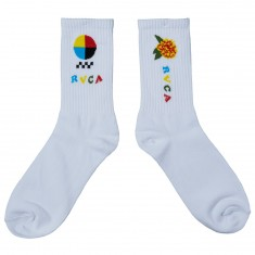 RVCA Luke Pelletier Socks - White