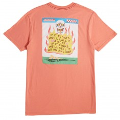 RVCA If It Floats T-Shirt - Terracotta