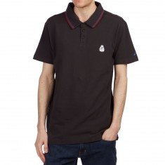 RVCA Smokey Polo Shirt - RVCA Black