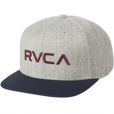 RVCA Twill Snapback Hat - Heather Grey Blue