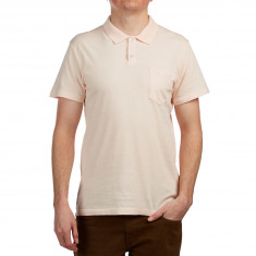 RVCA PTC Pigment Polo Shirt - Rosewater