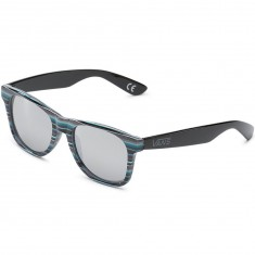 Vans Spicoli 4 Sunglasses - Black Rockaway Stripe/Chrome