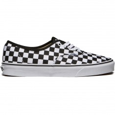 Vans Authentic Checkerboard Shoes - Black/True White