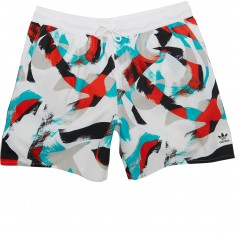 Adidas Courtside Shorts - White/Energy Blue/Black