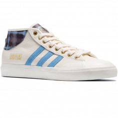 Adidas X Snoop X Gonz Matchcourt Mid Shoes - White/Light Blue/Gold Metallic