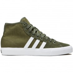 Adidas Matchcourt High RX Shoes - Olive Cargo/White/Base Green