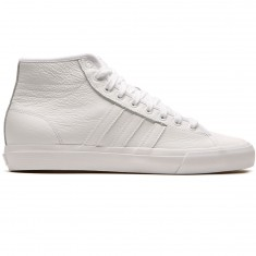 Adidas Matchcourt High RX Leather Shoes - White/White/White