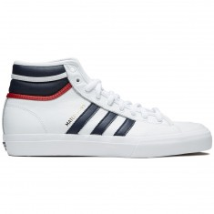 Adidas Matchcourt High RX Shoes - White/Collegiate Navy/Scarlet