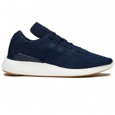Adidas Busenitz Pure Boost Primeknit Shoes - Collegiate Navy/White/Gum