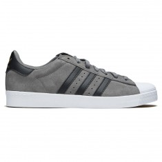 Adidas Superstar Vulc Adv Shoes - Grey/Core Black/Gold