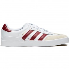Adidas Busenitz Vulc Rx Shoes - White/Collegiate Burgundy/Bluebird