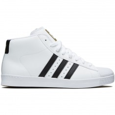 Adidas Pro Model Vulc Adv Shoes - White/Core Black/Gold