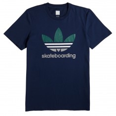 Adidas Clima 3.0 T-Shirt - Night Indigo/White/Collegiate Green