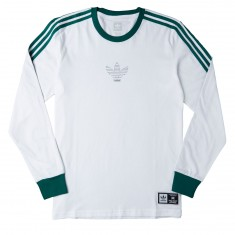 Adidas Club Longsleeve T-Shirt - White/Collegiate Green