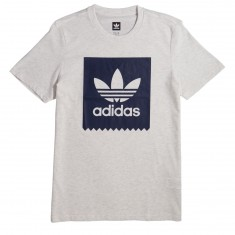 Adidas Solid Blackbird T-Shirt - Pale Melange/Night Indigo