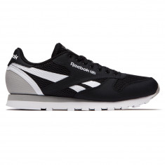 Reebok Classic Leather MVS Shoes - Black/Stark Grey/White
