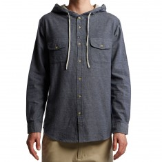 Imperial Motion Eugene Hooded Longsleeve Shirt - Indigo