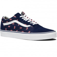 Vans Old Skool MLB Shoes - Boston/Red Sox/Navy