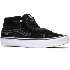 Vans Sk8-Mid Pro Shoes - Black/Black/White