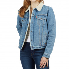 Levi's Womens Original Sherpa Trucker Jacket - Divided Blue