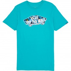 Vans OTW Logo Fill T-Shirt - Teal/Dress Blues Bonsai Leaf