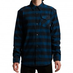 Adidas Stretch Flannel Shirt - Blue Night/Black