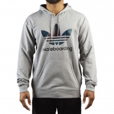 Adidas Clima 3.0 Palm Hoodie - Heather/Blue Night/Red Night/Black