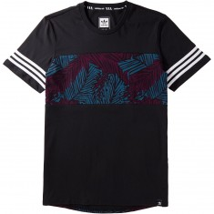 Adidas Blocked Palm T-Shirt - Black/Blue Night/Red Night/White