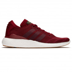 Adidas Busenitz Pure Boost Primeknit Shoes - Collegiate Burgundy/Mystery Ruby/White
