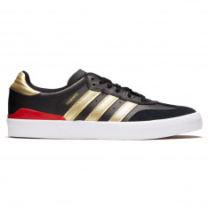 Adidas Busenitz Vulc Rx Shoes - Core Black/Gold Metallic/Scarlet