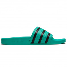 Adidas Adilette Slides - Hi-Res Green/Core Black/Hi-Res Green