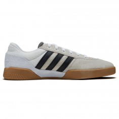 Adidas City Cup Shoes - White/Core Black/Gum