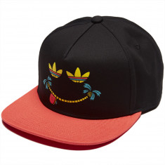 Adidas Smiles Snapback Hat - Black/Trace Scarlet