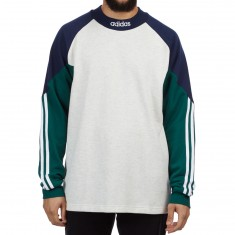 Adidas Piti Goalie Jersey - Pale Melange/Night Indigo/Collegiate Green