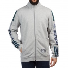 Adidas Quarzo Fleece Zip Sweatshirt - Medium Grey Heather