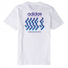 Adidas Running T-Shirt - White/Shock Green/Purple/Grey