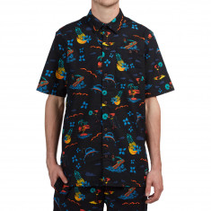 Adidas Island Buttonup Shirt - Black/Gold/Shock Green/Blue